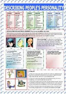 describing s personality worksheets 15903 exercises personality adjectives