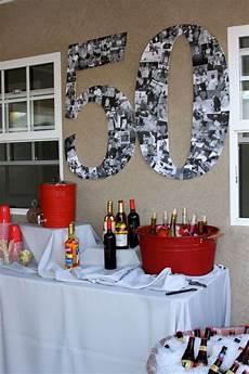 deko ideen mit fotos eine gro 223 e 50 aus fotos basteln als deko zum 50sten geburtstag zum 50 geburtstag