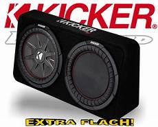 flach subwoofer auto kicker subwoofer tcomp rt122 flache bassbox 2ohm