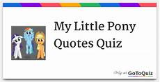 my pony quotes quiz