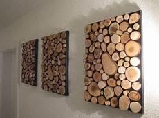 Holz Deko Wand Selber Machen - bild aus einzelnen holzscheiben wohnen holzs