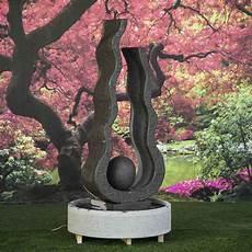 bassin de jardin avec cascade 62005 fontaine de jardin flamme boule grise 2 m