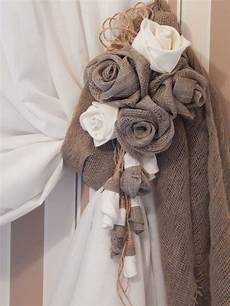 home decor curtains rustic curtain tie back organic linen flower curtain