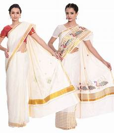 top 14 kerala cotton sarees fashion kiosks combo of offwhite kerala kasavu cotton