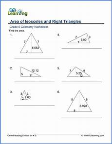 geometry worksheets class 5 654 grade 5 geometry worksheets area of triangles k5 learning