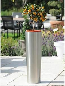 pot de fleur inox pot de fleurs pour le jardin pot en inox conique