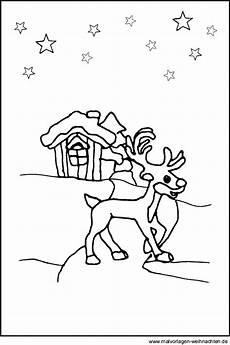 Malvorlagen Weihnachten Tiere Malvorlagen Rentier Kostenlose Ausmalbilder Zum Thema