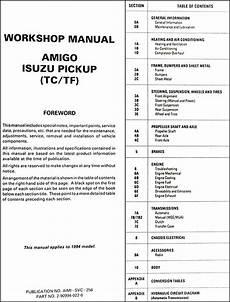 free service manuals online 1994 isuzu amigo transmission control 1994 isuzu forward workshop manual
