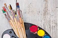 watercolor paint with brush stock image image of multicolor bright 27138337