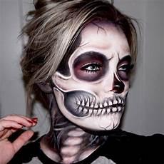 Totenkopf Schminken Frau - 1001 ideas for spooky paint suggestions