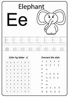 alphabet worksheets letter e 24096 writing letter k worksheet writing a z alphabet exercises for stock vector