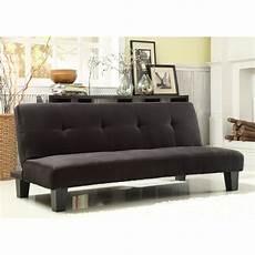 mini futon homelegance tufted mini sofa bed lounger black futons