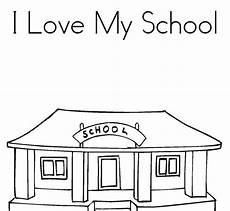 Gambar Gedung Sekolah Untuk Mewarnai