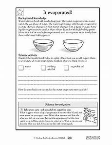it evaporated 5th grade science worksheet greatschools
