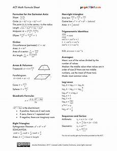 math formulas sheet products prepactsat