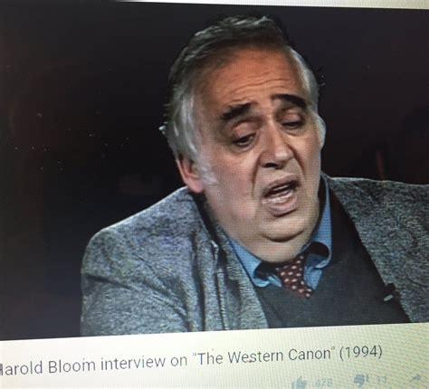 Harold Bloom Western Canon List