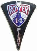 Rover Car Badge Very Rare Speed Pilot 14 1930/34