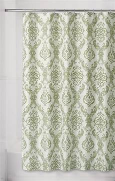 shower curtains with green essential home green damask fabric shower curtain home