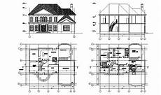 free cad software for house plans two story elevation and floor plan of the house in autocad