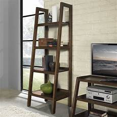 Bookshelves With Ladder For Sale simpli home sawhorse ladder shelf bookcase bookcases at