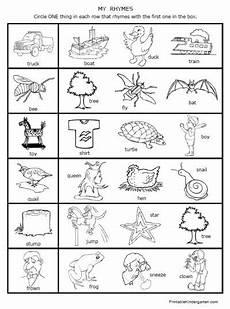 printable worksheets rhymes rhyming fun preschool kindergarten kids