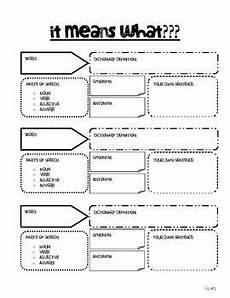 simple vocabulary graphic organizer vocabulary graphic organizer teaching vocabulary