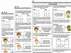 subtraction exchange worksheets 10070 white maths year 4 subtraction of two 4 digit numbers exchanging problem solving by