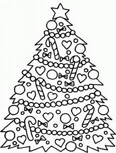 tree coloring pages tree with decoration