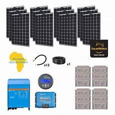 kit solaire 3120w autonome afrique premium
