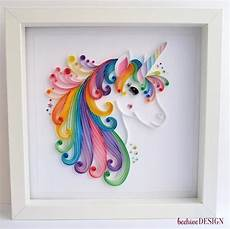 any color large unicorn wall large unicorn quilling unicorn framed picture