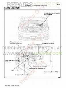 car repair manuals online free 1997 toyota previa parking system toyota previa tarago acr30 clr30 pdf manual download