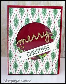 stingwithamore christmas in july merry christmas shaker card tutorial