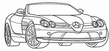 Mercedes SLR McLaren Coloring Page  Teacher Stuff Cars
