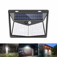 led solar powered rechargeable pir motion activated wall