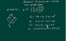 abitur abstand punkt gerade berechnen mit hilfsebene