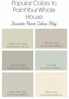 popular colors to paint your whole house favorite paint