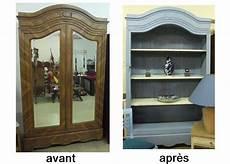 ancienne armoire relookee en bibliotheque meuble