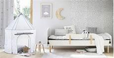 lit 233 volutif enfant 90x140 190 blanc nuage maisons du monde