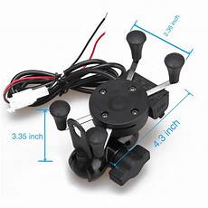 universal adjustable usb motorcycle bike mount holder for