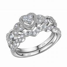 0 5ct heart white cz 925 sterling silver wedding engagement ring size 5 10 ebay