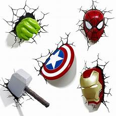 marvel avengers 3d wall light hulk iron man captain
