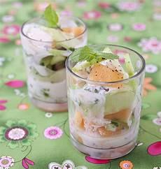 verrine concombre menthe verrine de concombre et de melon 224 la menthe sauce yaourt