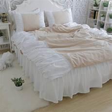 luxury wrinkle bedding set queen size heavy handmade sewn