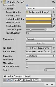 unity manual slider