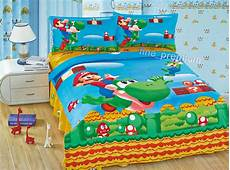mario bros luigi yoshi duvet cover pillow case flat sheet bedding ebay