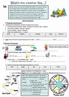 weather reading comprehension worksheets 14512 what s the weather like worksheet free esl printable worksheets made by teachers