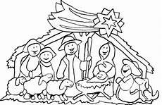 Ausmalbilder Ostern Biblisch Kleine Weihnachtskrippe Ausmalbilder Vektorisieren