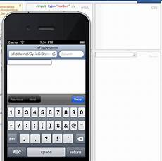 html5 is not showing a number keypad ios stack overflow