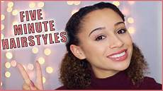 5 minute hairstyles for curly haired youtube