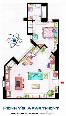 Sitcom Apartment Blueprints by Floor Plans For Television Show Houses It S All